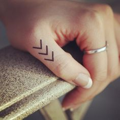 Featuring the (Small) Chevron tattoo from our Etsy Shop