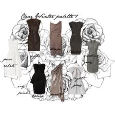 """""""Clear Winter palette 1"""" by carolgrant on Polyvore"""