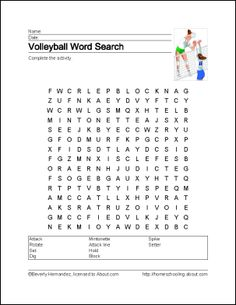 Volleyball Wordsearch, Vocabulary, Crossword, and Volleyball Crafts, Volleyball Party, Volleyball Mom, Volleyball Drills, Volleyball Quotes, Coaching Volleyball, Girls Softball, Volleyball Players, Girls Basketball