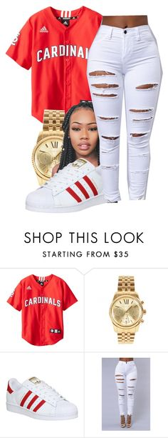 """Say yes~Floetry"" by maiyaxbabyyy ❤ liked on Polyvore featuring Michael Kors and adidas"