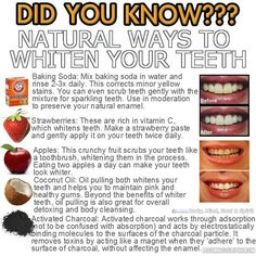 Did You Know? Natural Ways To Whiten Your Teeth
