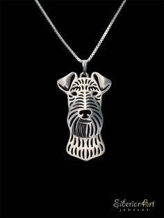 Welsh Terrier  sterling silver pendant and necklace.