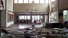 The lobby of St. Johns. Joplin, MO.  I got go to inside the other day and it doesn't look quite like this anymore.  It's still torn up and dirty but they've removed most of the debris off of the floor.