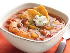 Slow Cooker Mexican Chicken Chili, using Old El Paso Enchilada Sauce