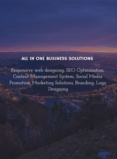 All in one business solutions in one place to set your business online at its fullest.