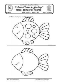 Fish Activities, Motor Skills Activities, Preschool Learning Activities, Preschool Activities, Kids Learning, Nursery Worksheets, Free Kindergarten Worksheets, 1st Grade Worksheets, English Worksheets For Kids