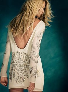 White Party Dress with Glitter Details