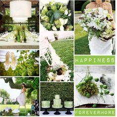 Green wedding?  I'd just add a hint of blush...