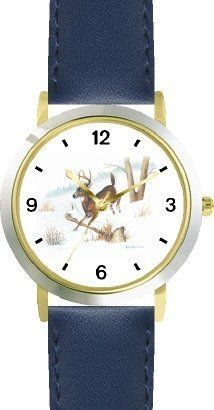Deer Buck in Snow JP Animal - WATCHBUDDY® DELUXE TWO-TONE THEME WATCH - Arabic Numbers - Blue Leather Strap-Size-Children's Size-Small ( Boy's Size & Girl's Size ) WatchBuddy. $49.95. Save 38% Off!