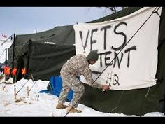 Veterans from the United States for America are arriving at standing rock