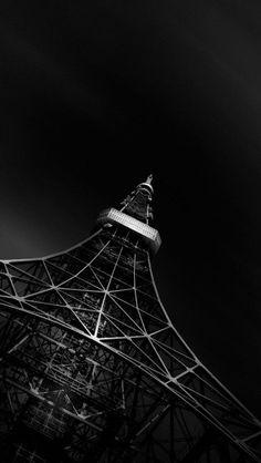 Black Eiffel Tower #iphone #wallpaper
