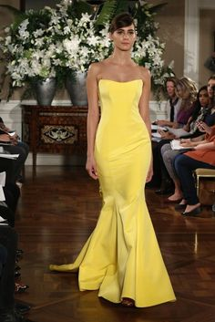 Sexy Yellow Wedding Dress
