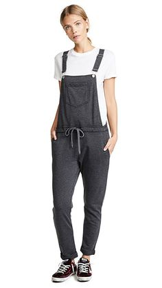 5 cute-casual outfits for the work from home entrepreneur! We're all about style with minimal effort. Here are 5 outfits to wear when you work from home! Denim Overalls, Cute Casual Outfits, China Fashion, Straight Leg Pants, French Terry, Lounge Wear, My Style, Cotton, How To Wear