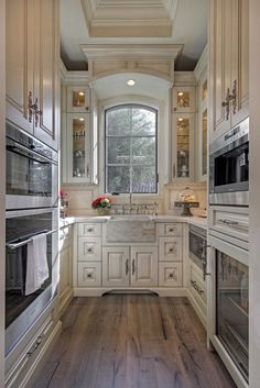 Luxury French Villa home pantry with sink and storage
