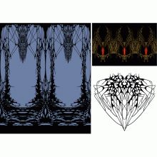 Here you can download 3 mysterious band designs.