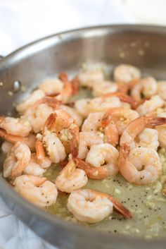 (Use 12 oz. shrimp to serve 2, and all olive oil) Hawaiian Garlic Shrimp- just like the garlic shrimp you'll find in Hawaii. Sweet, garlicky (quick!) shrimp that will take you right back to the island.