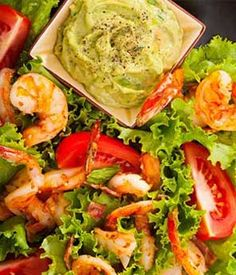 Grilled Prawn Salad with Tomatoes & Avocado Aioli | Avocados From Mexico