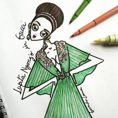 ❤️ @lupitanyongo in @gucci @ Cannes 2015 @cannes_filmfestival #cannes #cannes2015 #lupita #lupitanyongo #gucci #look #dress #cannesfilmfestival #sketch #sketchbook #fashionsketch #fashion #schizzo #illustration #fashionillustration #markers #ink #draw #drawing #instadaily #igdaily #green #flowers – Cannes Film Festival 2015 | Short Film Corner – Cannes 2015