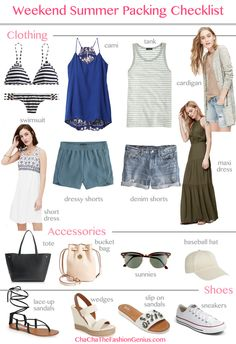 30f2bd88bb2a Summer Weekend Vacation Packing Checklist