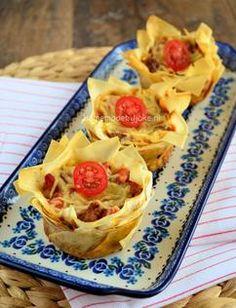 Deze Italiaanse filodeeg quiches zijn echt super lekker zowel bij lunch, brunch of als snack maar bij een Italiaans buffet doen ze ook prima. Een recept hiervoor staat op mijn blog Homemade by Joke..