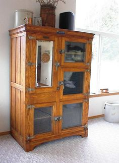 I would absolutely love to have a McCray-style icebox like this in my kitchen - retrofitted for electricity, of course.