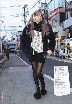 "fy-fruits: "" Misa, old, works at Grimoire "" Japanese Street Fashion, Tokyo Fashion, Harajuku Fashion, Asian Fashion, 90s Fashion, Fashion Looks, Fashion Outfits, Vogue, Aesthetic Clothes"