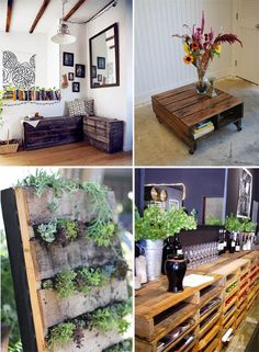 Some inspiration as to what to do with the pallets I have acquired