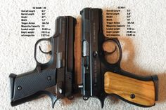 CZ Rami and CZ P-01 side-by-side comparison