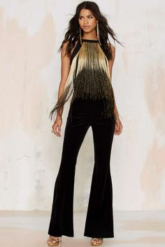 Glamorous Slay in Ombré Fringe Bodysuit - Clothes | Party Shop | Bustiers + Bodysuits