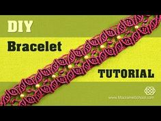 DIY Macramé Flower Petal Bracelet with Beads - YouTube
