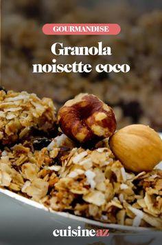 Le granola aux noisettes et noix de coco est parfait pour un brunch ou le petit déjeuner.