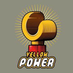 Lego Power - T-shirt geek et original - Coton bio Black Power, Lego T Shirt, Cows, Tee Shirts, Geek Stuff, The Originals, Yellow, Originals, Accessories