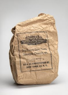 Bag of glue for gesso used by Charles Prendergast at WIlliams College Museum of Art, Prendergast Archive and Study Center