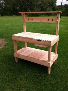 Potting Bench, Potting Table, Gardening Bench, Garden Table, Reclaimed Wood, Barn Wood by TheHamlinWoodshop on Etsy