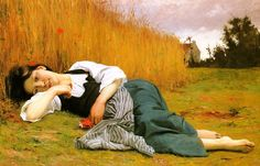 Rest at Harvest, 1865 by William-Adolphe Bouguereau (French academic painter, 1825 – 1905)