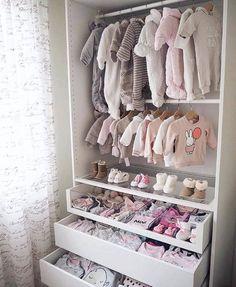 babies closet wall clothes