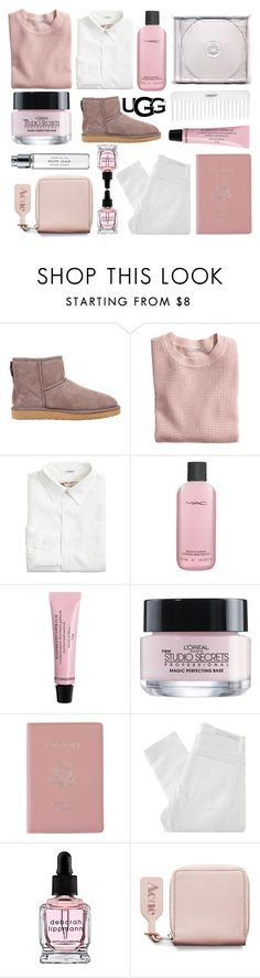 """""""The Icon Perfected: UGG Classic II Contest Entry"""" by menke-mode ❤ liked on Polyvore featuring UGG Australia, H&M, J.Crew, Conair, MAC Cosmetics, L'Oréal Paris, Royce Leather, Nobody Denim, Deborah Lippmann and Acne Studios"""