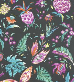 Habanera Wallpaper from the Cubana Collection by Matthew Williamson for Osborne & Little, with fuchsia & bright orange pineapples and butterflies. Bright Wallpaper, Orange Wallpaper, Butterfly Wallpaper, Of Wallpaper, Designer Wallpaper, Pink Butterfly, Wallpaper Backgrounds, Chinese Wallpaper, Wallpaper Online