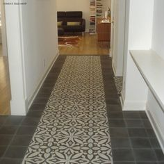 Cement tiles were traditionally designed to create one interlocking design using four tiles. Each tile is rotated 90 degrees to form one des...