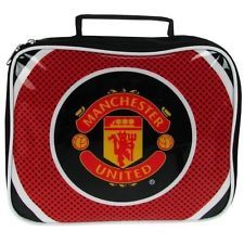 Official Licensed Club Football Manchester United Lunch Bag School Gym Work New