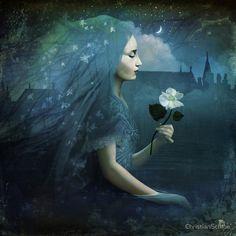 Christian Schloe Midnight Flower