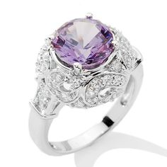 Victoria Wieck 3.61ct Absolute™ and Simulated Alexandrite Ring