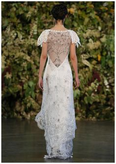 Wedding dress by Claire Pettibone from the 2015 Gothic Angel Collection.