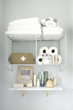 adding practical bathroom storage for small space living