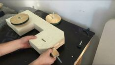 How to make a new homemade bandsaw Drill Powered Scroll Saw, Workshop, Band Saw, Drill, Survival, Science, Homemade, Tools, Drill Press