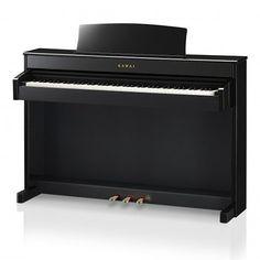 Piano Numérique Meuble Kawai Cs4 Noir - NOUVEAUTÉ PIANO KAWAI - Piano digital CS4 88 notes - nouvelle mécanique RHA II 88 touches bois avec simulation d'échappement - surface tactile du clavier en ivoire de synthèse - nouvelle électronique à 3 capteurs - finition noir laque.