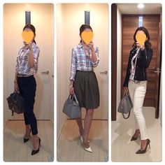 3 looks with a plaid shirt