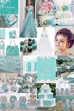 Tiffany Blue Wedding Design Inspiration.... Love the bridesmaid dress!!
