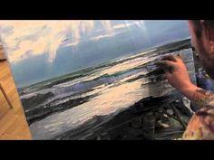 Море, уроки рисования для начинающих, Сахаров - YouTube