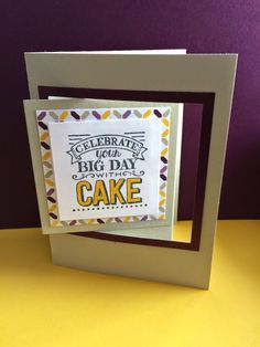 Mandy Reedyk Happy Scrappin':  Big Day Birthday Card Stamping' Up! Sale-A-Bration 2015